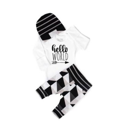 Hello World Triangle Newborn Set